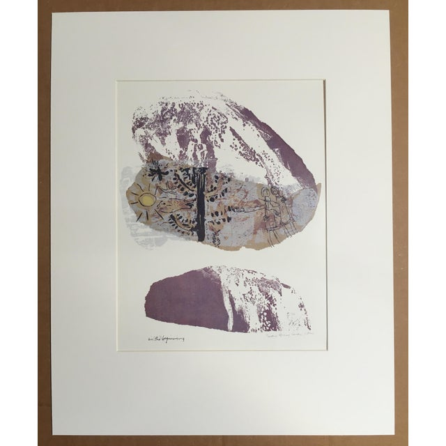 "Abstract 1960s Vintage Sister Corita Pop Modernist ""In the Beginning"" Print For Sale - Image 3 of 3"