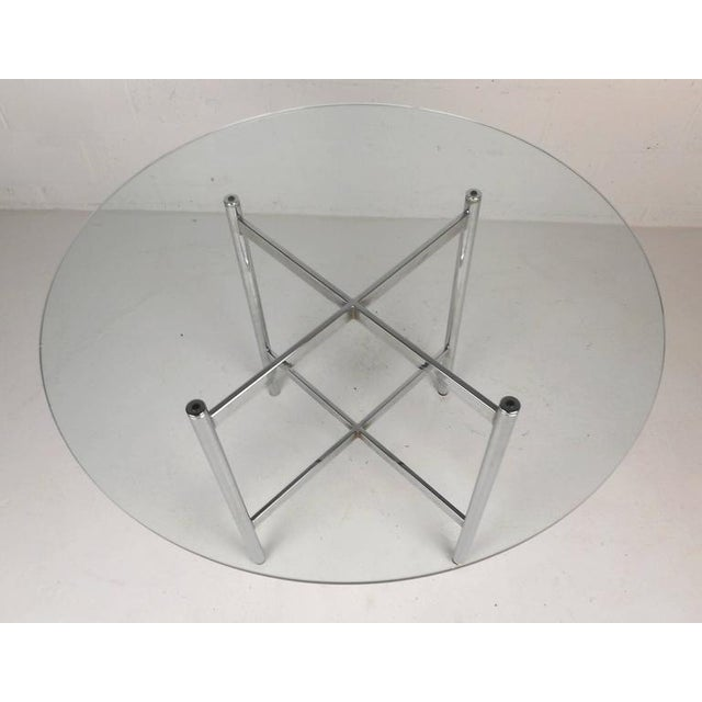 Mid-Century Modern Chrome X-Base Dining Set For Sale - Image 4 of 10