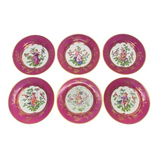 19th Century Chinoiserie Plates - Set of 6 For Sale