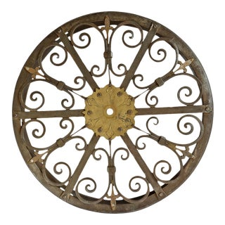 Vintage Iron Wall Ceiling Sconce For Sale