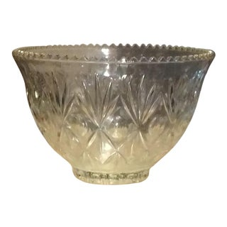 Crystal Punch Bowl For Sale