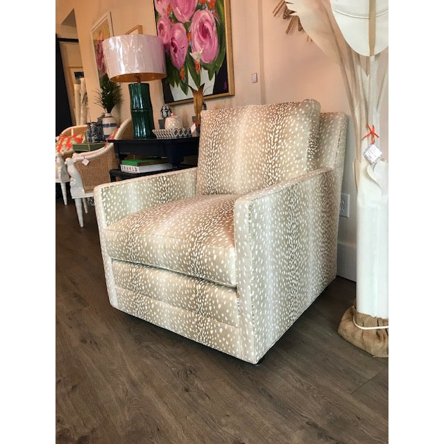 2010s M/T Company Upholstered Chair For Sale - Image 5 of 5