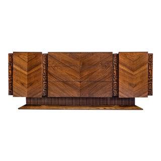 Mid Century Modern United Tiki Brutalist Dresser For Sale