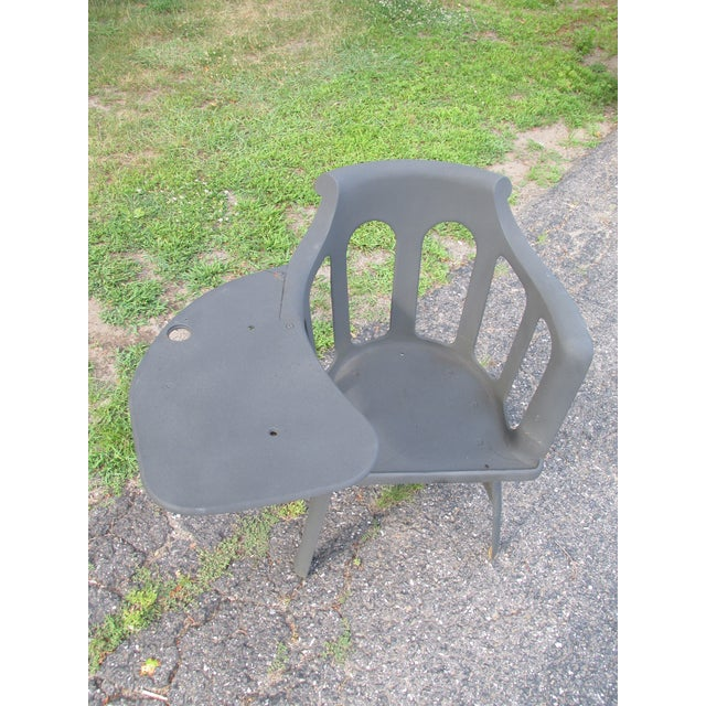 Early Modernist Cast Iron Writing Chair - Image 4 of 9