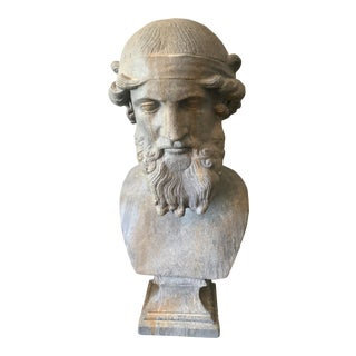 Mid 20th Century Handsome Greek Bust of Ulysses For Sale