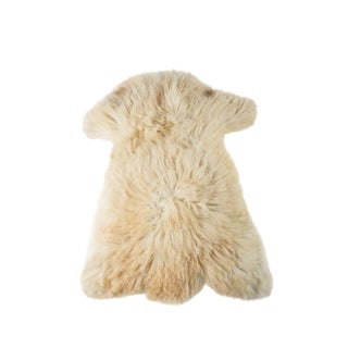 "Contemporary Natural Wool Sheepskin Pelt Rug - 2'0""x3'0"" For Sale"