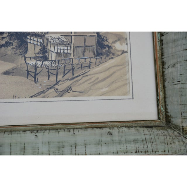 Vintage Mid-Century James Bunnell Chinoiserie Ink Prints - A Pair For Sale In Richmond - Image 6 of 13