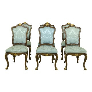 Set of 6 Karges French Louis XV Style Dining Room Chairs For Sale