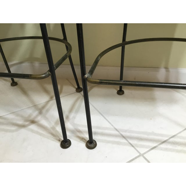 Wrought Iron Bar Stools - A Pair - Image 5 of 11