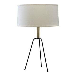 Mid-Century Iron Tripod Table Lamp For Sale