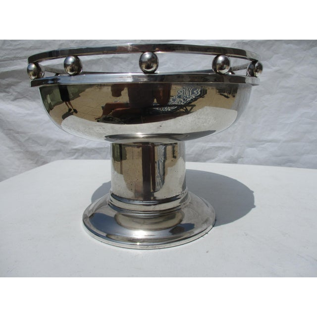 1990s Larry Laslo Silver Plate Center Bowl For Sale - Image 5 of 8