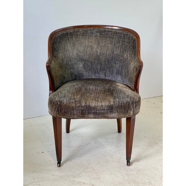 Metal Art Deco Armchair of Mahogany, Circa 1940s For Sale - Image 7 of 13