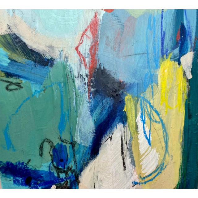"""Around the World and Back"" by Gina Cochran Original Abstract Painting For Sale - Image 10 of 13"