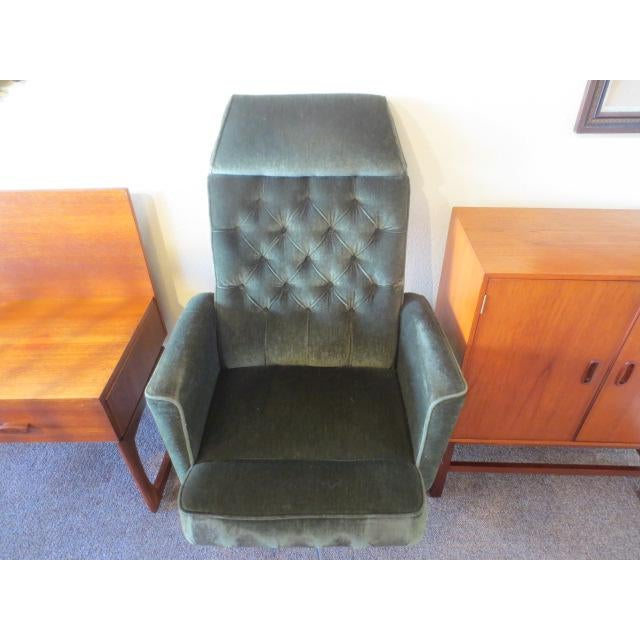 C. 1970s Green Office Chair For Sale In San Francisco - Image 6 of 7