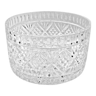 Shannon Dublin Godinger Crystal Large Salad Serving Bowl For Sale