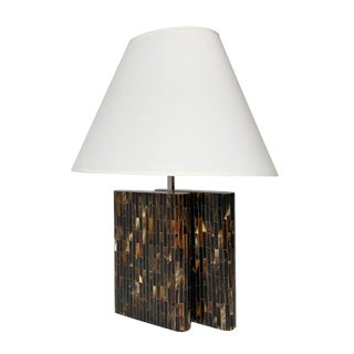 Enrique Garcel Tessellated Horn Table Lamp For Sale