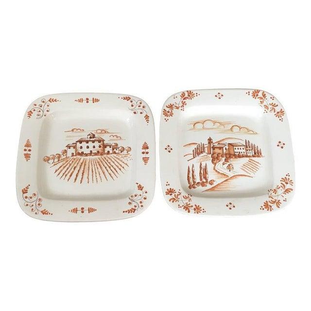 1980s Vintage Vietri Decorative Platters - A Pair For Sale