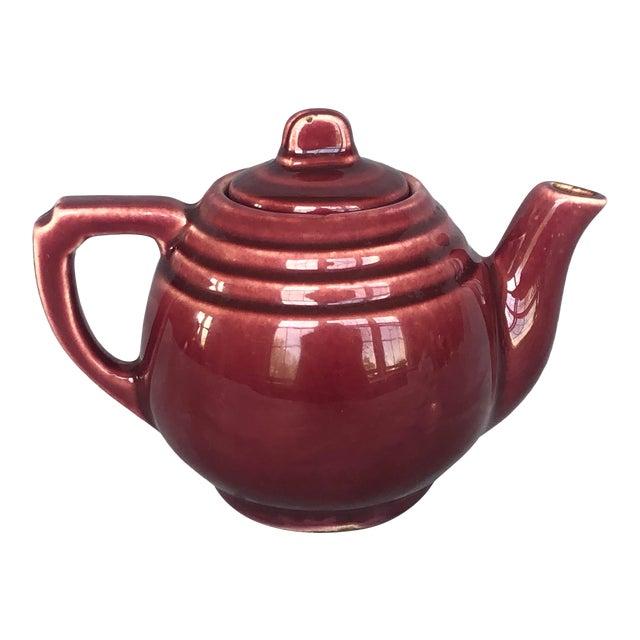 Vintage 1940s Usa Pottery Teapot For Sale
