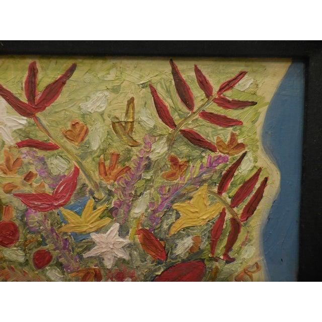 Vintage Oil Painting - Cubist Floral - Image 7 of 11