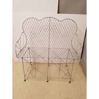 Victorian Wire Garden Settee or Bench Preview