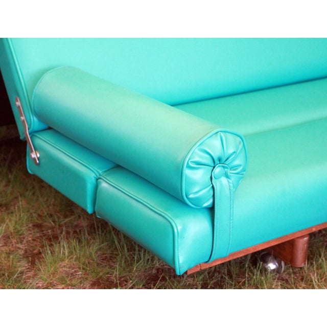 Martin Borenstein Turquoise Daybed Sofa Mid Century Modern C.1960's For Sale - Image 4 of 10