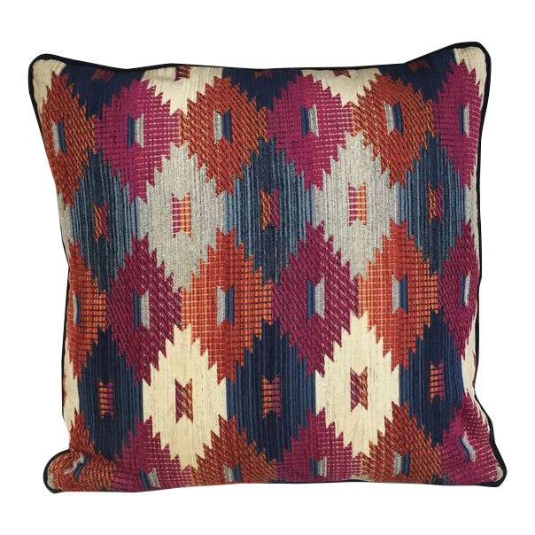 Kim Salmela Multi Color Aztec Print Pillow For Sale