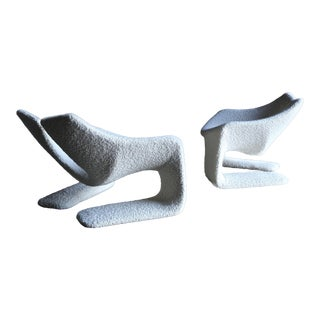 """Kwok Hoi Chan Pair of """"Zen"""" Chairs for Steiner, Paris, Circa 1970 For Sale"""