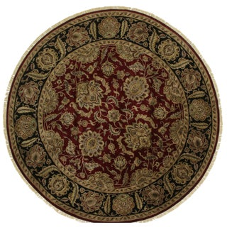 Round Persian Style Hand-Knotted Wool Rug - 12' x 12' For Sale