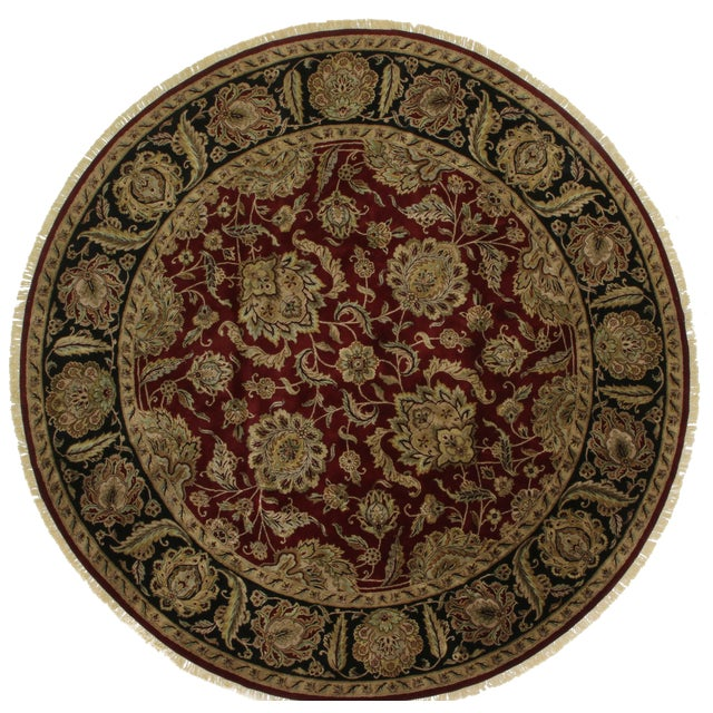 Round Persian Style Hand-Knotted Wool Rug - 12' x 12' - Image 1 of 2