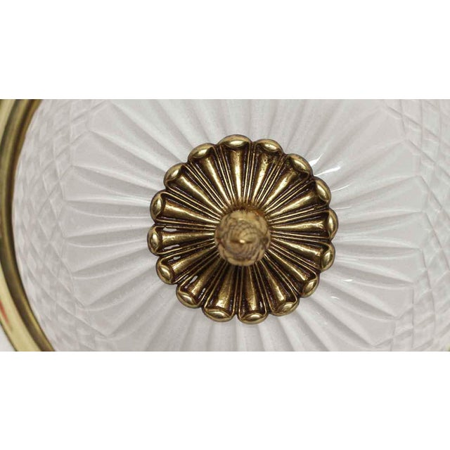 Traditional Vintage Waldorf Astoria 12.5 In. Cut Glass Flush Mount Fixture For Sale - Image 3 of 9