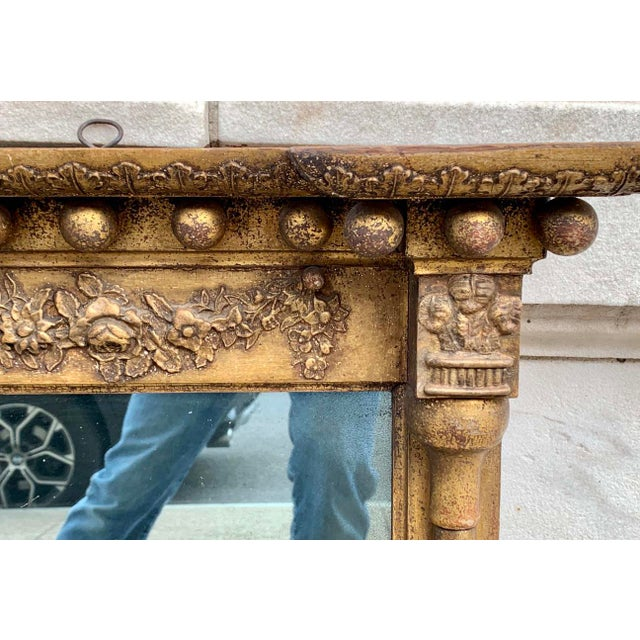 Early 19th C. Gilt Wall Mirror For Sale - Image 4 of 7