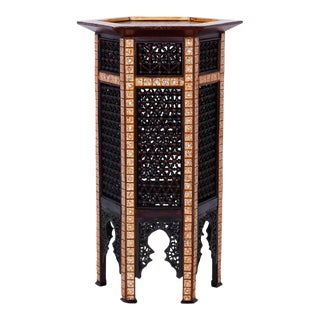 Inlaid Syrian Stand For Sale
