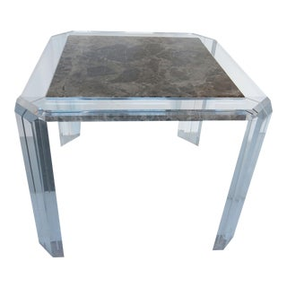 Les Prismatiques Lucite and Marble Dining Table