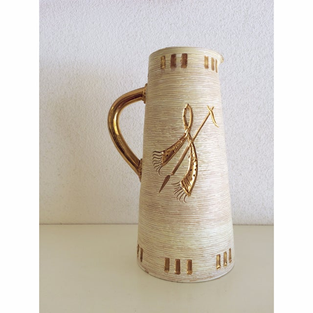 Fratelli Fanciullacci Gold Accented Pitcher - Image 3 of 5