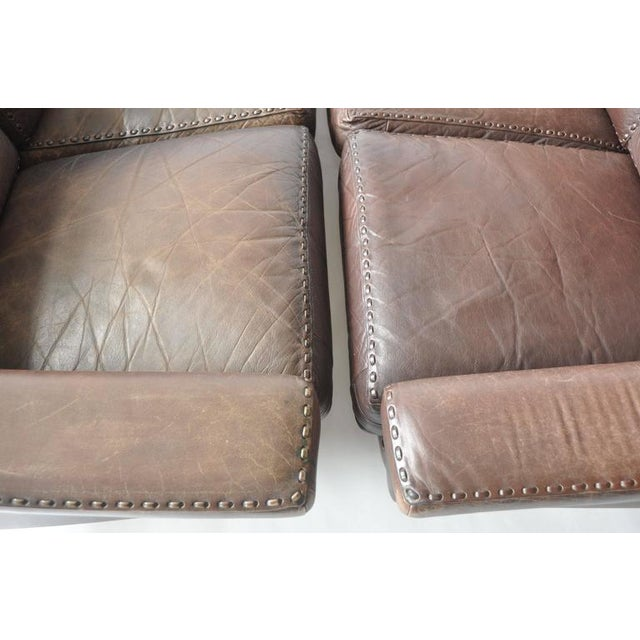Mid-Century Modern Pair of Aage Christiansen 1960s Danish Leather Sofas For Sale - Image 3 of 9