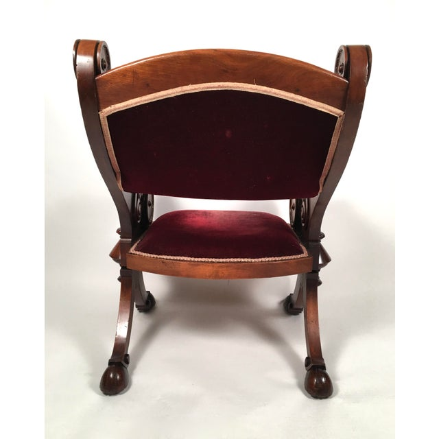 Late 19th Century Two Renaissance Revival Chairs and a Foot Stool For Sale - Image 5 of 11