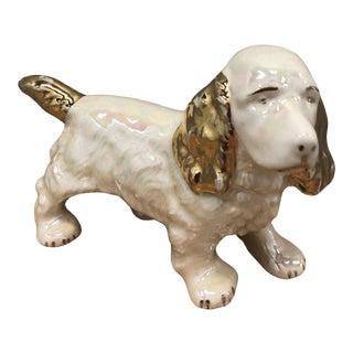 Vintage Lusterware Ceramic Spaniel Dog For Sale