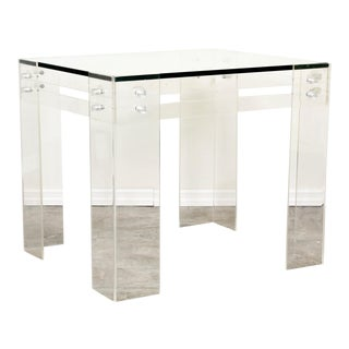 Mid Century Lucite Side Table, Lucite Table, Rectangular Side Table For Sale