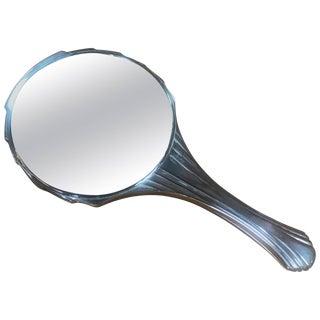 Deco Italian Hand Mirror, 1940s For Sale