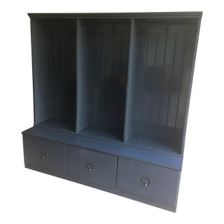 Navy Blue Entry Way Cabinet/Perfect for Mud Room