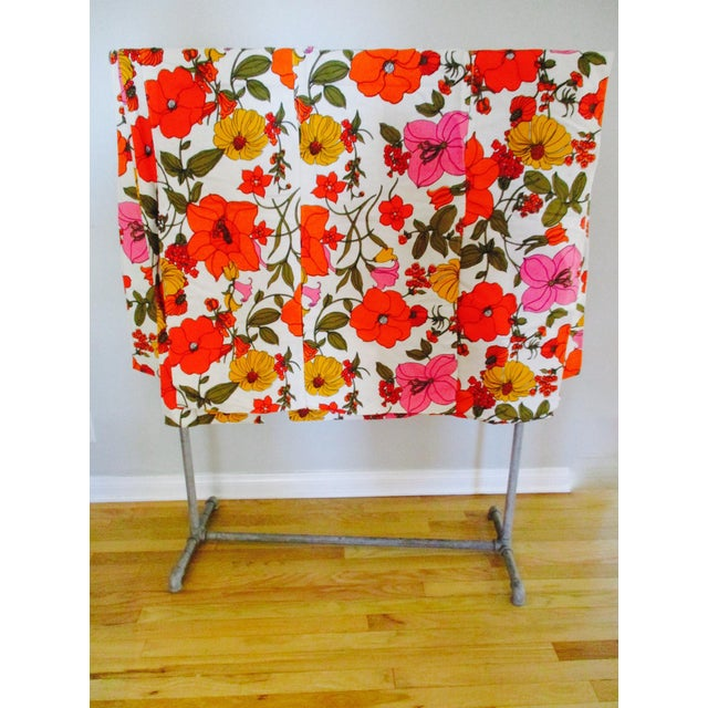 Vintage Swedish Flower Wall Panels Curtains Textile - Set of 4 - Image 2 of 10