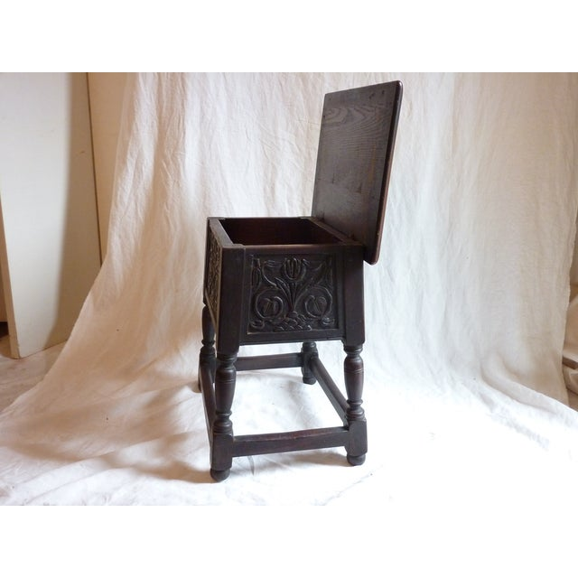18th Century English Carved Oak Joint Stool - Image 4 of 6