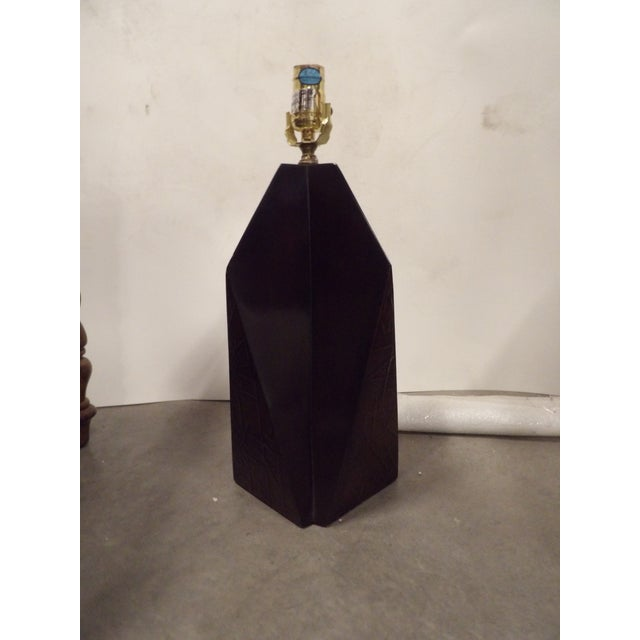 Contemporary Contemporary Wood Obelisk Lamp For Sale - Image 3 of 7