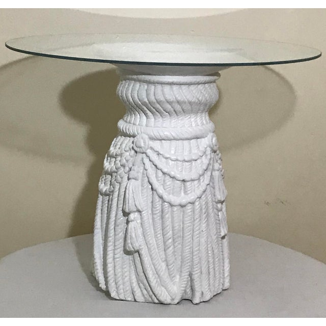 Art Deco Hollywood Regency Tassel Fringe Rope Side Tables in the Manner of Dickinson – a Pair For Sale - Image 3 of 7
