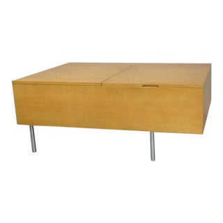 Rare George Nelson for Herman Miller Blonde Blanket Chest For Sale