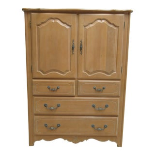 Ethan Allen Country French High Chest Dresser Armoire Cabinet For Sale