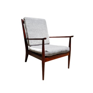 1970s Danish Mid-Century Modern Walnut Lounge Chair