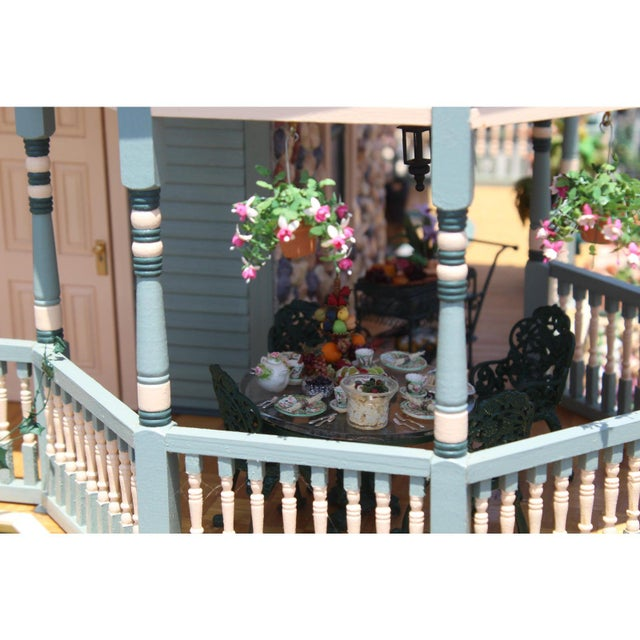 Massive 7 Foot With Case Doll House From the Heritage Museum l.a on S. Calif. Architecture For Sale - Image 10 of 11
