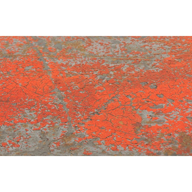 Red Beautifully Distressed Frank Lloyd Wright & Warren McArthur Biltmore Cafe Table For Sale - Image 8 of 8