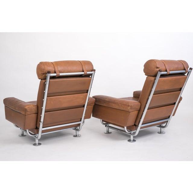 Illum Wikkelsø Pair of Illum Wikkelsø High-Backed Lounge Chairs for Ryesberg Møbler For Sale - Image 4 of 7
